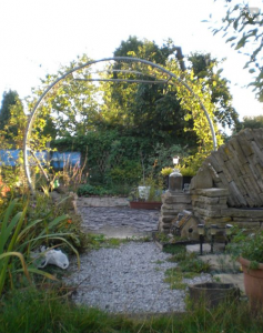 trampoline as a garden
