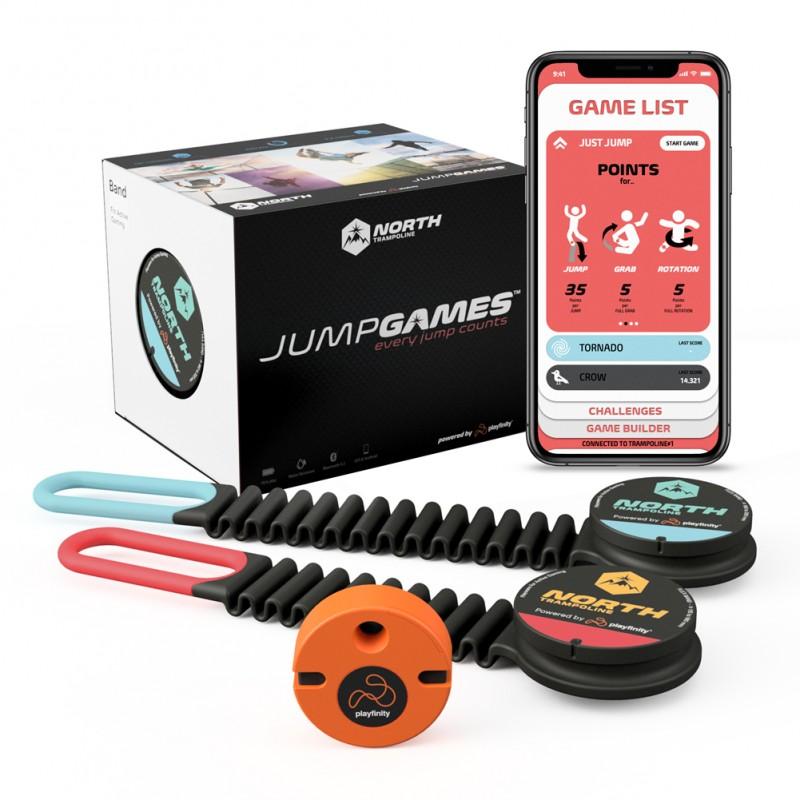 JumpGames Set on display, showing Giveaway prize.