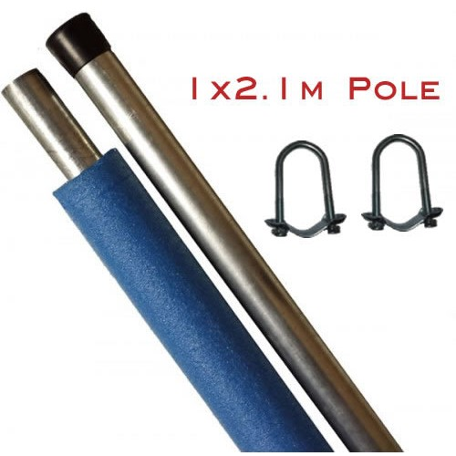 Replacement Trampoline Enclosure Pole - 2.1m (with brackets)