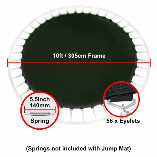 """Jump Mat for 10 ft Trampoline Frame with 56 eyelets (for 5.5"""" springs)"""