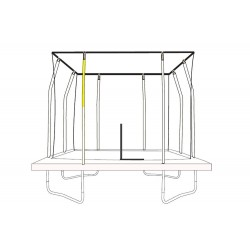 JumpKing Top enclosure Poles for Rectangular Trampolines