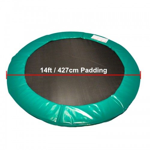 14 ft Super Premium Trampoline Safety Padding (Green)