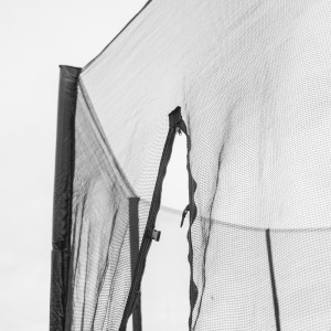 8 ft Replacement Trampoline Safety Enclosure (Netting and 6 poles)